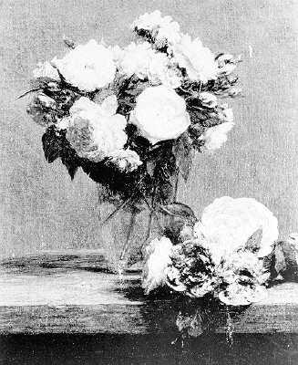 Bouquet de Roses Dans un Verre